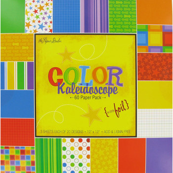 "Color Kaleidoscope Paper Pack - 12"" x 12"""